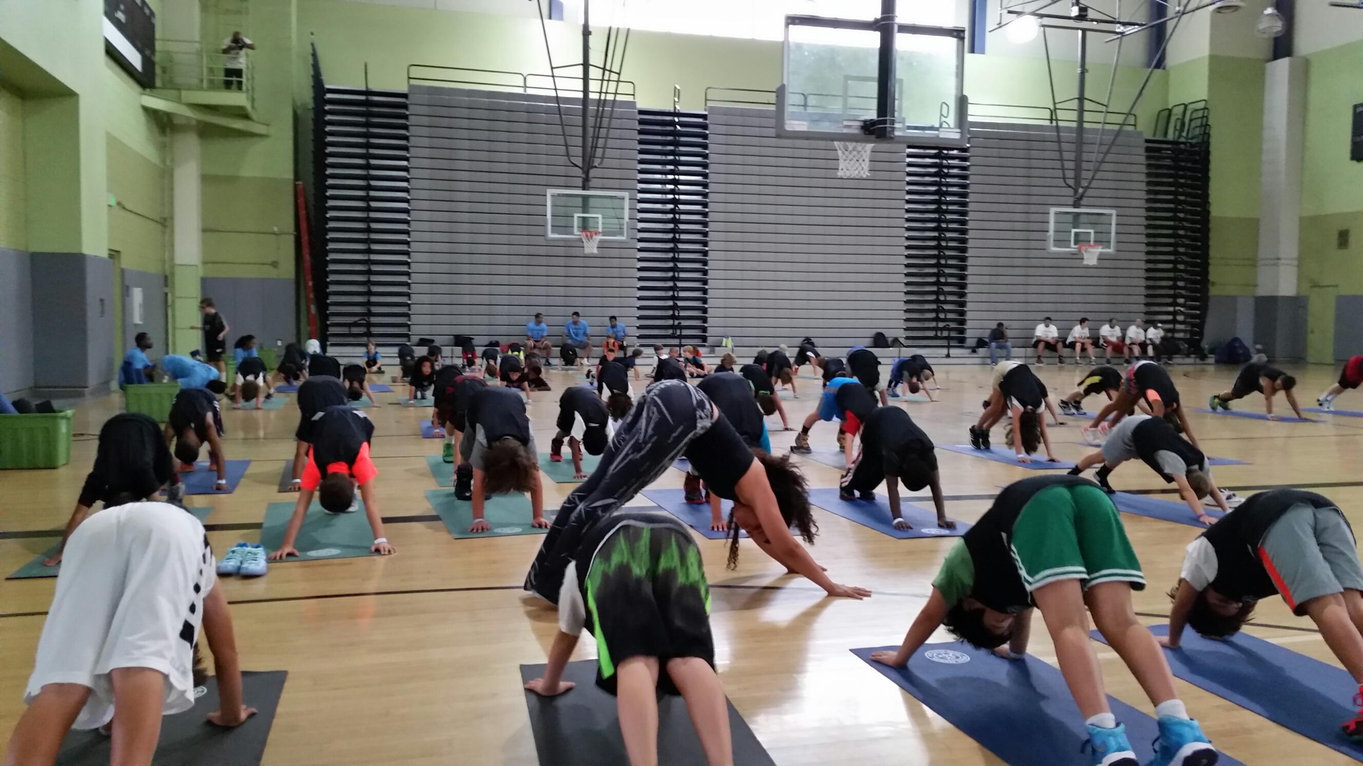 YogaWorks at Jordan Farmar's Hoop Farm